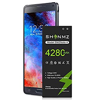 Galaxy Note 4 Battery,[Upgraded] 4280mAh Li-ion Replacement Battery for Samsung Note 4 [N910,N910U LTE,AT&T N910A,Verizon N910V,Sprint N910P,T-Mobile N910T]|36 Month Warranty