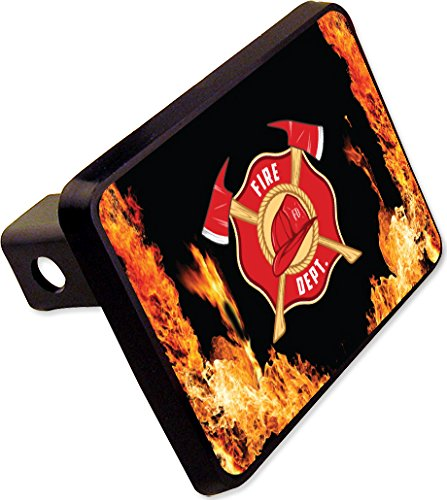 FIRE DEPTARTMENT Trailer Hitch Cover Plug Firefighter Novelty cheapyardsigns