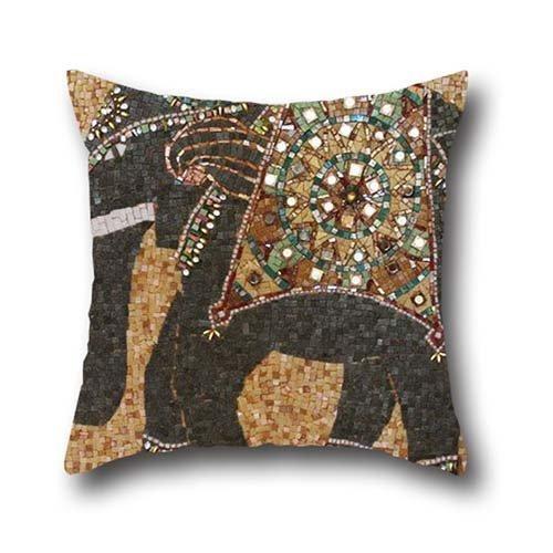 ZiJface Art Elephant Indian Decorative Cover Throw Pillow ...