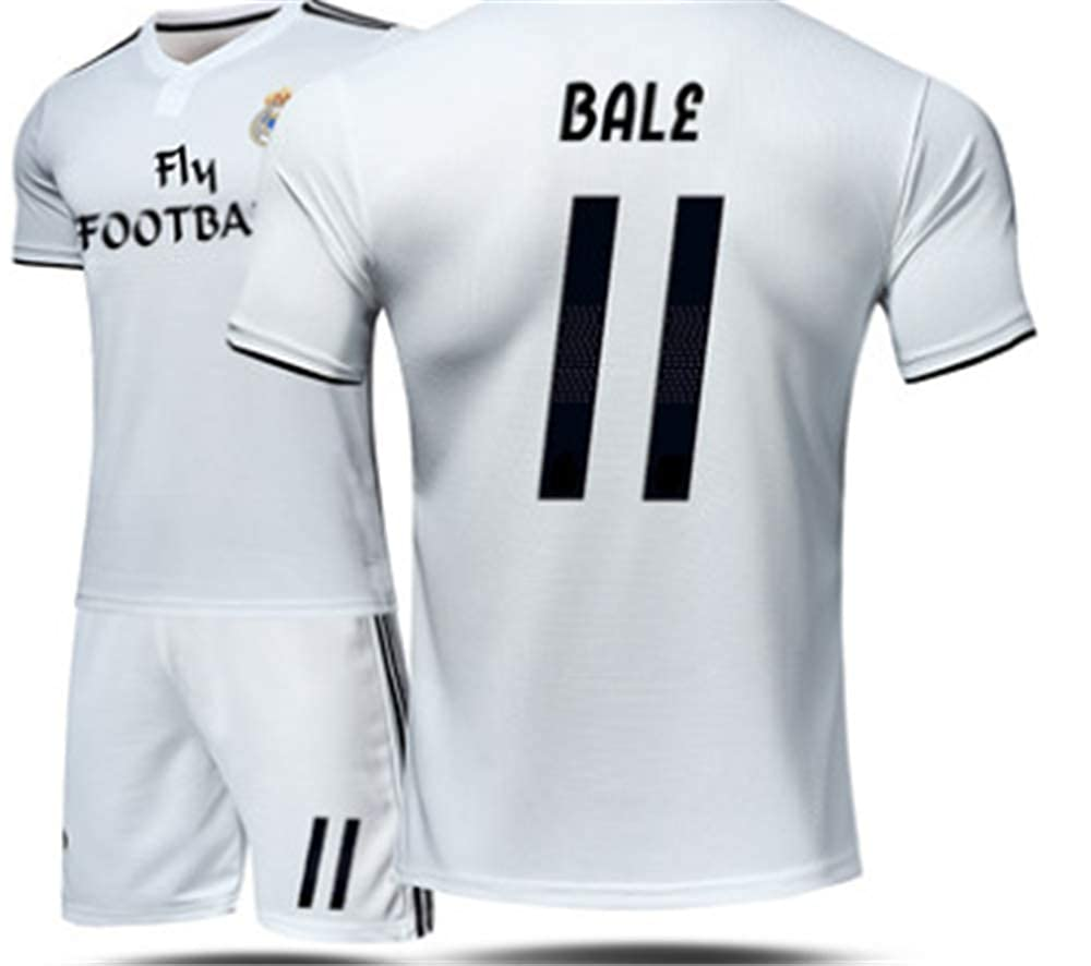LISIMKE Soccer Team Home 2018//19 Real Madrid Bale #11 Kid Youth Replica Jersey Kit Jersey /& Shorts /& Socks