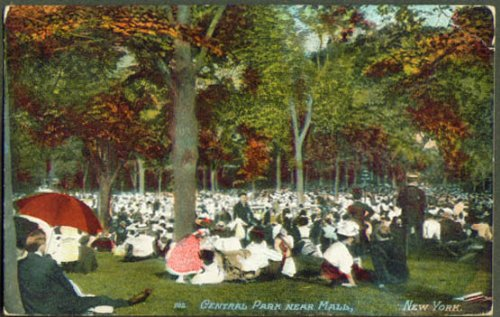 Central Park near Mall New York City postcard - New Near York Malls
