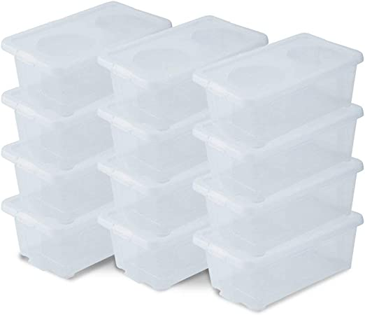 Homgrace Zapatos Caja Cartón 12/Set de 24 Plástico Transparente ...