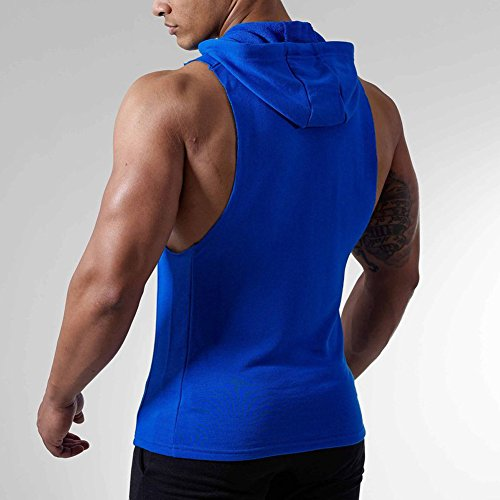 b478d346743 lovely Magiftbox Mens Workout Hooded Tank Tops Sleeveless Gym Hoodies With  Kanga Pocket Cool and Muscle