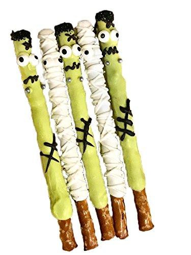 Mummy, Frankenstein, Halloween, Chocolate Covered Pretzel Sticks, Monster Mash