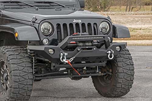 Rough Country Jeep Full Width Front LED Winch Bumper (fits) 2007-2018 Wrangler JK 10596