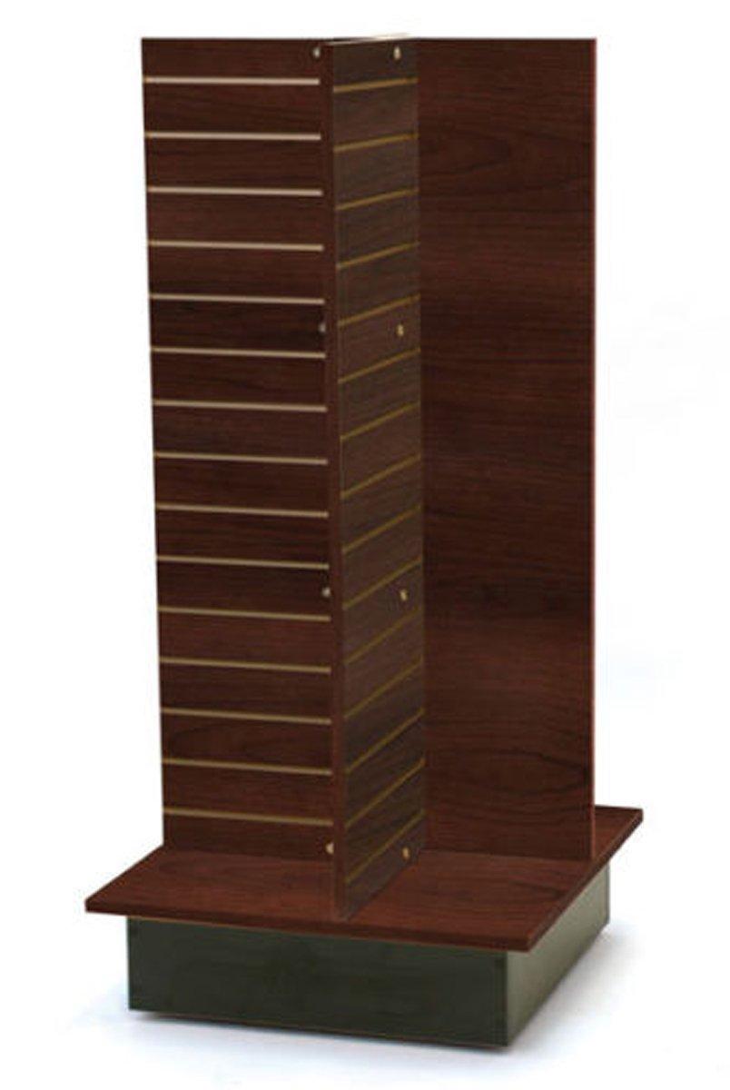 Slatwall Merchandiser Display Shelving Fixture Knockdown USA Made Chocolate NEW