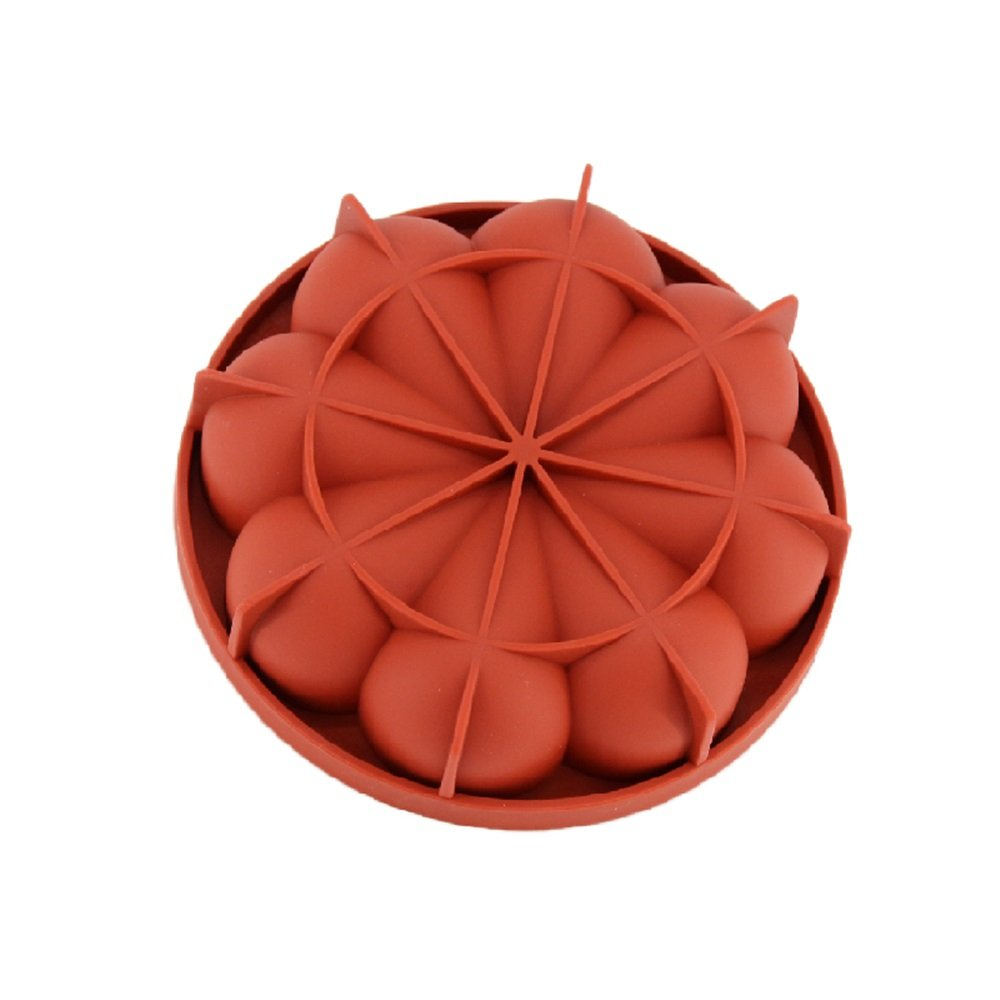 New Arrival Wine Red Silicone 3D Irregular Petals Shape Mold for Mousse Cake Pudding Ice Cream Bread Brownie Bakeware Tools China