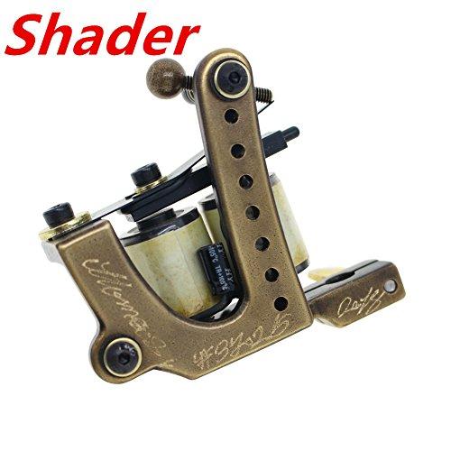 Thomas Shader Tattoo Machine Gun Brass Frame Handmade for Tattoo Supplies
