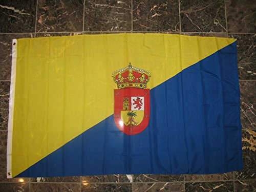 3x5 Gran Canaria Canary Islands Rough Tex Knitted flag 3'x5' house banner Vivid Color and UV Fade Resistant Canvas Header and polyester (Gran Canaria Three Light)