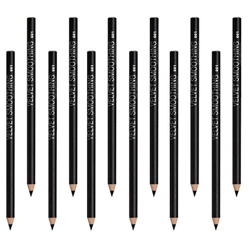 Baoblaze 12x Soft Smoothing Eyeliner Eye Liner Makeup Pencil Eyes Applicator Black