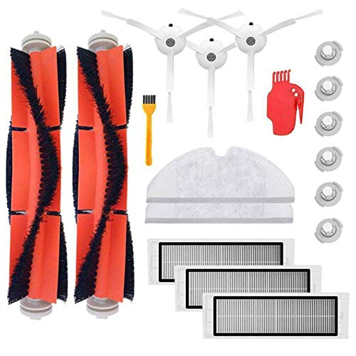 Shentesel 18Pcs Filter Main Side Brushes Mop Cloth for Xiaomi Mi Roborock Vacuum Cleaner
