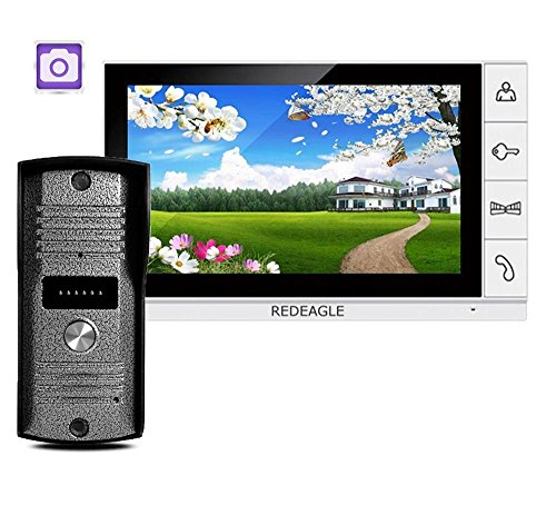 Intercom System Telephone Interface - HITSAN luxury 9 inch color lcd monitor video recording door phone doorbell intercom system ir camera support sd card record function