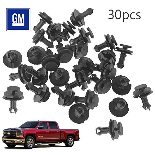 Anxingo Deflector Retainer Clips 15733971 Auto Body Clips Bumper Fastener Rivet Clips GM Chevrolet Front Air Dam Valance (30-Pack) -