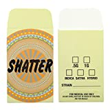500 Premium Beige Shatter Labels Extract Wax Strain Coin Envelopes #135