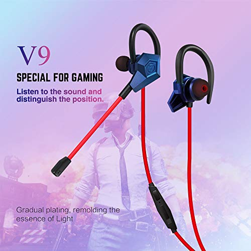 (Soutege V9 in-Ear Gaming Earphones Support PS4/psp/Xbox360/Xbox one/PC - Gradual Purple)