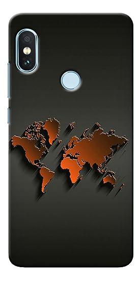 a8e08f5c464 DigiPrints Hard Pc World Map Art Design Printed Designer Back Case Cover  For Xiaomi Redmi Note 5 Pro  Amazon.in  Electronics