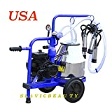 Stainless Steel Mini Milking Machine 5.3 Gal for Cows 120V Complete USA SHIPPING+FREE EXTRAS