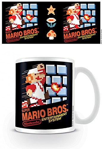1art1 Super Mario, NES Cover, Super Mario Bros. Photo Coffee Mug (4x3 inches) and 1x Surprise Sticker from 1art1