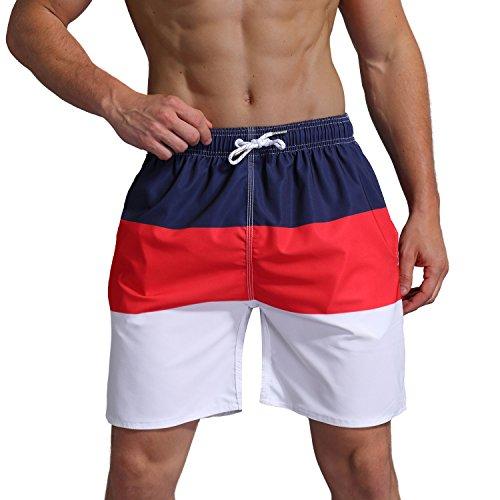 Milankerr Men's Swim Trunk Beach Shorts (M(Waistline:32