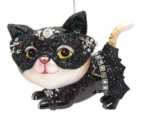 December Diamonds Blown Glass Ornament - Kitty Woman Superhero]()