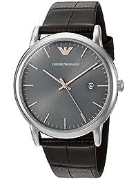 Emporio Armani Men's AR1996 Dress Brown Leather Watch