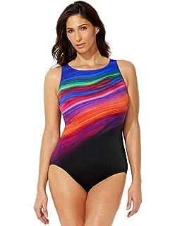 cde186ec2b8 Swimsuits for All Women's Plus Size Longitude High-Neck Swimsuit