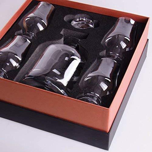 cuatro copas de Plain Glencairn Imperial cuadrado Decantador y tap/ón