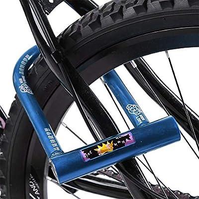 Keenso Candado para Bicicleta, Candado en U Antirrobo para Bici ...