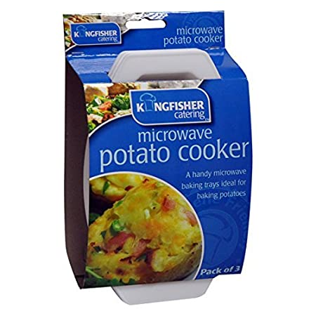 Microwave Potato Cooker 3 Pack Jacket Potato Baking Tray