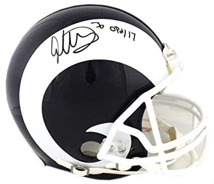 90c83516b Todd Gurley Signed Los Angeles Rams Riddell Authentic NFL Helmet  With quot OPOY 17 quot  Inscription