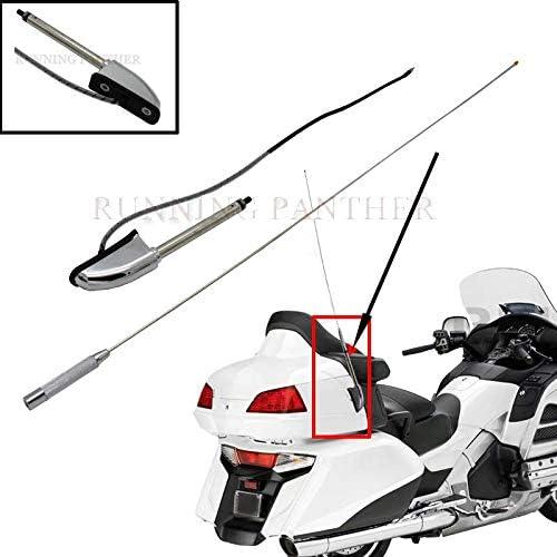 For Honda Glodwing GL1800 GL1500 GL1800P GL1800HPNA Audio Comfort Navi GL1800A 2001-2014 Motorcycle Chrome Antenna Kit