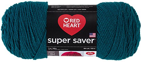RED HEART Super Saver Yarn, Real Teal (Teal Heart)