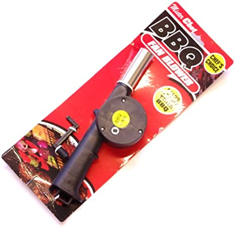 outdoor bbq hand crank powered fan air blower for picnic barbecue fire~R/_T