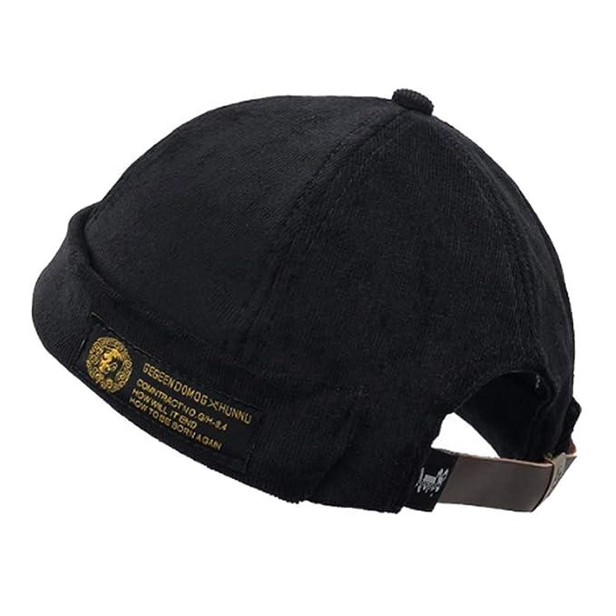 da1115aae3f90 Clape Casual Cotton Watch Cap Commando Work Beanie Corduroy Docker Leon Brimless  Hat Rolled Cuff Harbour