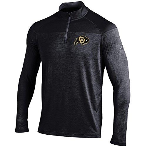Under Armour NCAA Colorado Buffaloes Men's Long Sleeve 1/4 Zip Tech Tee, Black, Medium