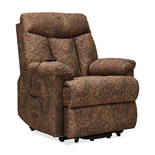 Domesis Leadville Paisley Wall Hugger Power Lift Reclining Chair