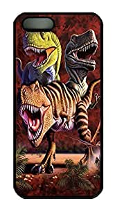 Covers Rex Collage Dinosaur Custom PC Hard Case Cover for iPhone 5/5S Black