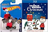 A Charlie Brown Christmas Blu Ray & Hot Wheels Snoopy - Charlie Brown Christmas - Red Baron car Animated Cartoon Movie Set