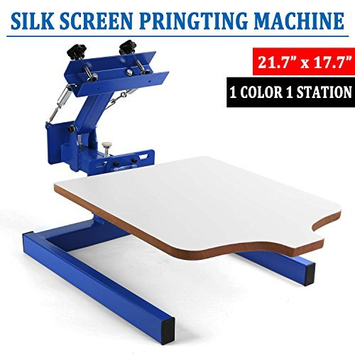 SHZOND Screen Printing Press 1 Color 1 Station Silk Screen Machine 217quot x 177quot Removable Pallet Screen Printing Machine Press for TShirt DIY Printing 1 Color 1 Station