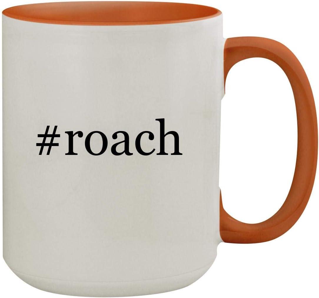 #roach - 15oz Hashtag Colored Inner & Handle Ceramic Coffee Mug, Orange 51KzwM9o52BL