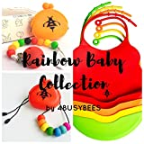 Silicone Pacifier Clip with Storage Case for Baby & Toddlers - Rainbow Collection, Pacifier Holder - Best Baby Shower Gift - 100% Food Grade Silicone - Dishwasher Safe - Universal Fit