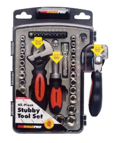RoadPro RPPS-10046 45-Piece Stubby Tool Set with (45 Piece Stubby Tool)