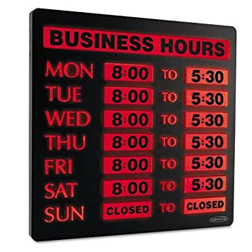 Amazon.com : Lighted Business Hour Sign, 13\