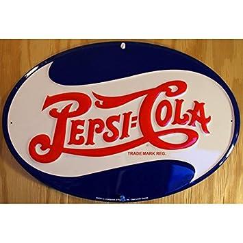 hotrodspirit - Placa Pepsi Cola Logo Oval tole Deco Bar ...