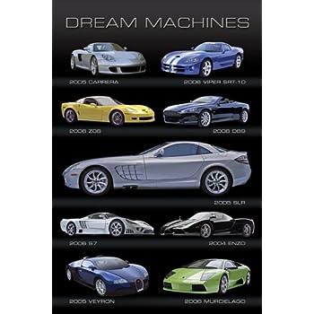 this item dream machines cars poster art print