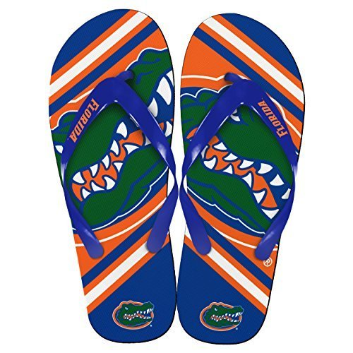 NCAA Collegiate Team Big Logo Unisex Flip Flop Beach Sandals - Choose Team (Florida Gators, Medium (9-10)) (Flip Flops Florida)