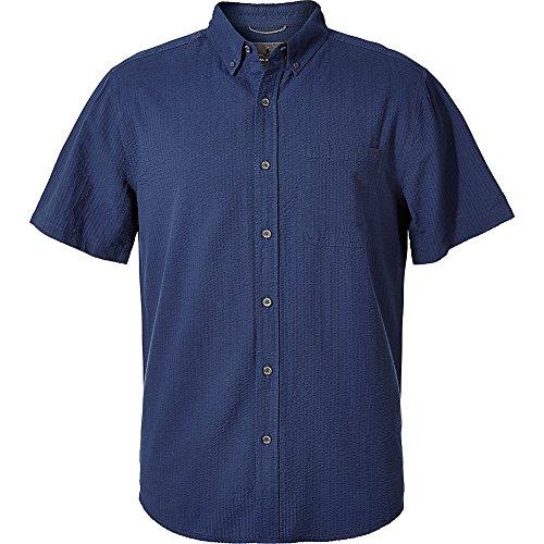 Royal Robbins Men's Mid-Coat Seersucker Shirt, Collins Blue, XX-Large