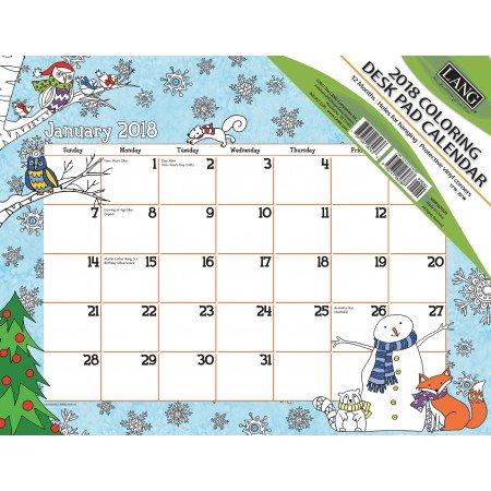 LANG - 2018 Coloring Deskpad Calendar -