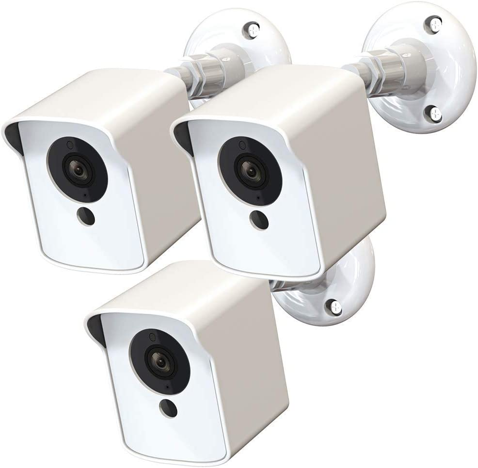 White, 1 Pack PEF Mount for Wyze Cam Outdoor Weatherproof Protective Cover and 360 Degree Adjustable Wall Mount for Wyze Camera Outdoor Indoor Wire-Free Smart Home Camera System