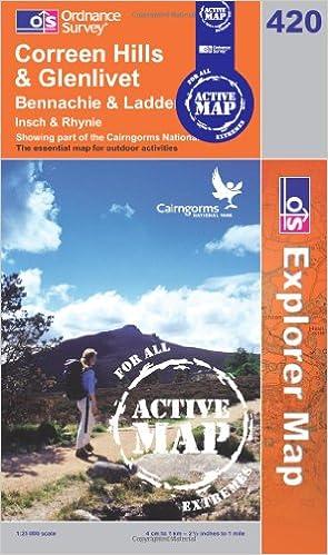 Read online Coreen Hills and Glenlivet (OS Explorer Map Active) PDF, azw (Kindle), ePub